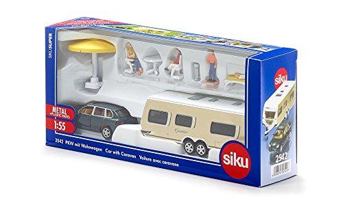 Siku 2542 - PKW mit Wohnwagen