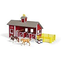 Breyer Stablemates - Set de establo de juguete (8 piezas), color rojo