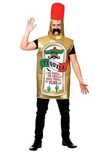 Erwachsene Tequila Flasche Fancy Dress Kostüme (Flasche Für Erwachsene-standard Kostüm)
