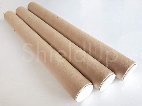 ShieldUp - 3resistenti tubi in cartone per spedizioni postali | 25mm di diametro 300mm di lunghezza