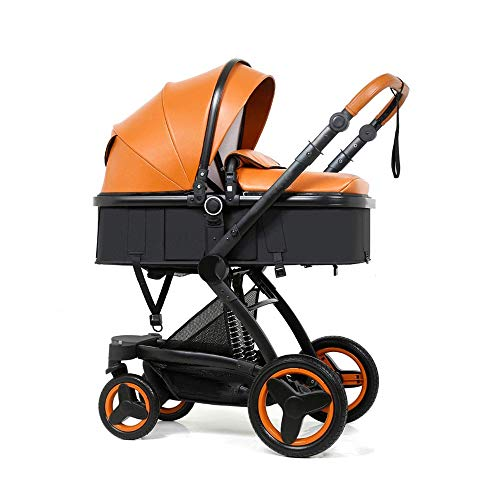 YHAMY 3 in 1 Portatile Carriage Corsa Infantile del Sistema, con Il Passeggino Shock-Resistant for Il Neonato e del Bambino Pieghevole Anti-Shock Veduta del Carrello (Color : B)