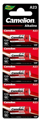 Camelion 11050523 Plus Alkaline Batterien ohne Quecksilber LR23/A/12 Volt, 5er Volt-alkaline-batterie