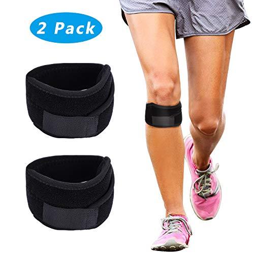 Tencoz 2 Stück Patella Bandage, Verstellbarer Kniebandage Kniegurt Knee Strap Knieschutz für den Sport Schmerzlinderung Knieschoner für Fitness Jumpers Knee Patella Band(Damen und Männer)