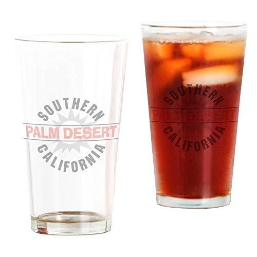 CafePress Palm Desert California Pint-Glas durchsichtig