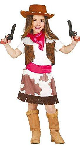 Guirca Cowgirl Kostüm für Kinder Mädchen Cowboy Western Kinderkostüm Gr. 98-146, Größe:98/104 (Kostüm Cowboy Mädchen)
