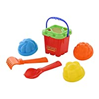 Polesie 7123 No.261 Sieve Shovel Rake No.2 3 Forms-Sets: Fortress Bucket, Multi Colour