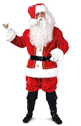 Sankt Nikolaus Kostüm - Kleidung zum Feiern Plüschiges Weihnachtsmann Kostüm