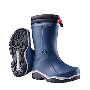 Dunlop Protective Blizzard, Bottes & Bottines de Pluie Mixte Enfant, Bleu (Blue 004), 34 EU