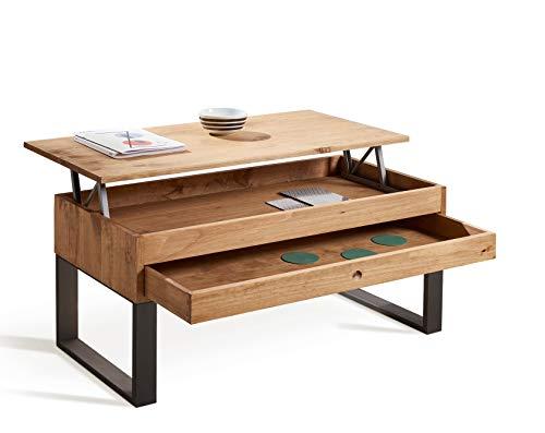 HOGAR24 ES VANIR- Mesa de Centro Elevable Cajón Deslizante Diseño ...