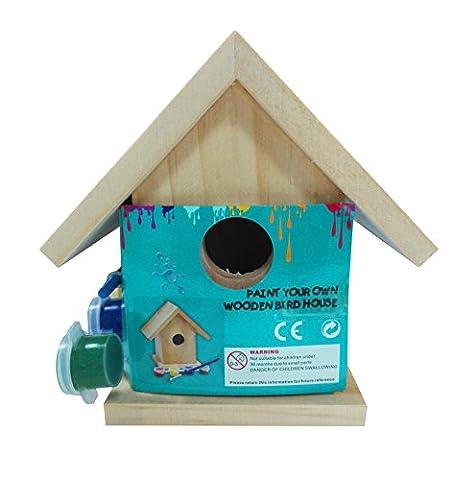 Funmate oiseaux de peindre votre propre maison bois solide