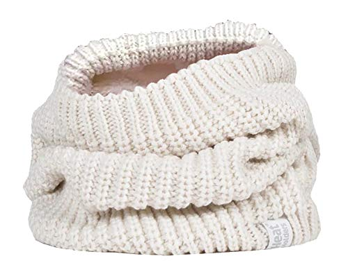 Heat holders - donna elegante grande invernale scaldacollo in pile (one size, cream (chunky))