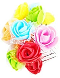 C.S Collection Multi Color Rose Flower Design Hair Pin Bun Pin Bun Decorative Hair Accessories For Girls Womens...