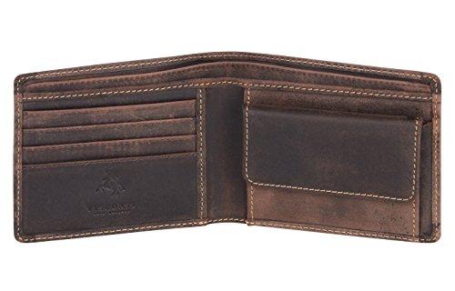 Visconti portafoglio di pelle da uomo a piegatura doppia 'BOND' Luxury Leather Wallet (BD10): (olio marrone (brown))
