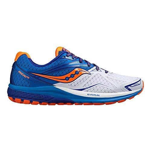Saucony Herren Ride 9 Laufschuhe Blau (White/Blue/orange) 45.5 EU - Saucony Schuhe Blau