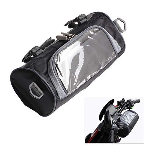 Borsa portaoggetti per forcella anteriore della moto, con finestrella touch trasparente, piccola, rimovibile, con tracolla regolab