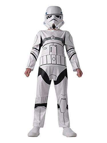 Rebel Trooper Star Wars Kostüm - Star Wars Rebels Storm Trooper Kinderkostüm Lizenzware weiss schwarz S