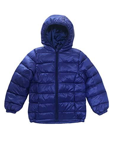 (BESBOMIG Kinder Outdoor Daunenjacke Unisex Winddicht Warm Winterjacke mit Kapuze - Leicht Daunen Jacke Reißverschluss Outerwear für Jungen Mädchen)