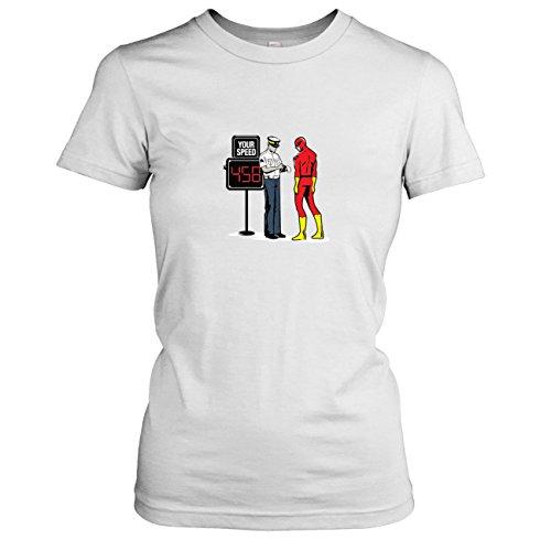 TEXLAB - Speedster Blitzer - Damen T-Shirt Weiß