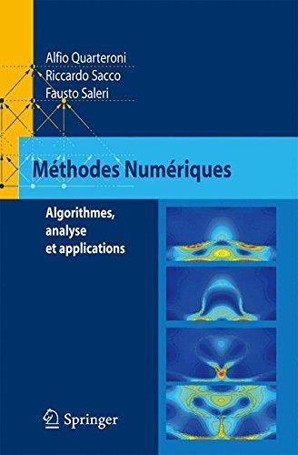 Méthodes Numériques : Algorithmes, analyse et applications