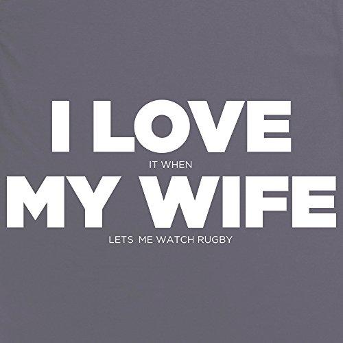 I Love My Wife T-Shirt, Damen Anthrazit