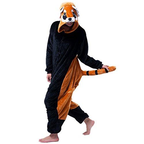 mas Kostüm Overall Tier Nachtwäsche Erwachsene Unisex Cosplay (L, Little Black Chicken) (Chicken Little Kostüme)