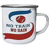 Ningún Tren No Gana Béisbol Retro, lata, taza del esmalte 10oz/280ml n566e