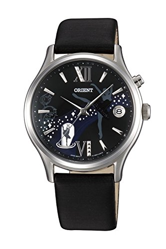 Watch Orient Women's Automatic with Black Leather Strap dm01003b.