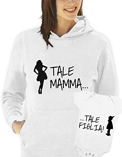"""felpa con cappuccio e body festa della Mamma -Tale mamma , tale figlia"""" tutte le taglie uomo donna S M L XL XXL maglietta by tshirteria"""