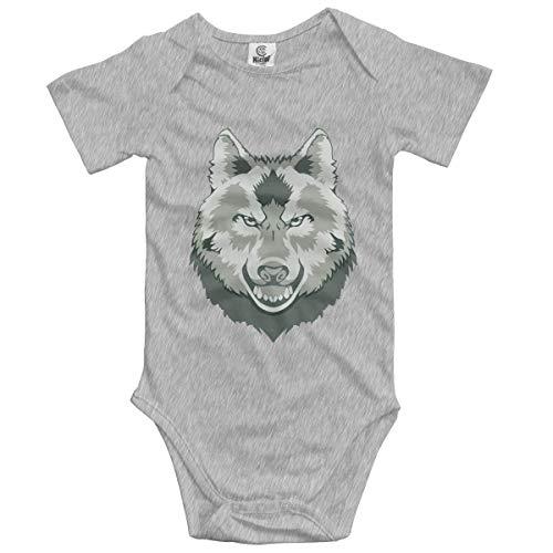 Klotr Unisex Baby Body Kurzarm Wolf Head Newborn Bodysuits Baumwolle Strampler Outfit Set
