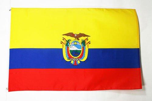 AZ FLAG Bandera de Ecuador 150x90cm - Bandera ECUATORIANA 90 x 150 cm poliéster Ligero