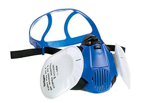 Dräger X-plore 3500 Halbmasken-Set inkl. Pure P3 Partikelfilter | Gr. M | Atemschutz-Maske für Handwerker und Heimwerker gegen Fein-Staub/Partikel