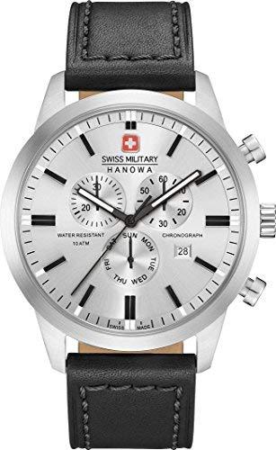 SWISS MILITARY-HANOWA Herren Analog Quarz Uhr mit Leder Armband 06-4308.04.009