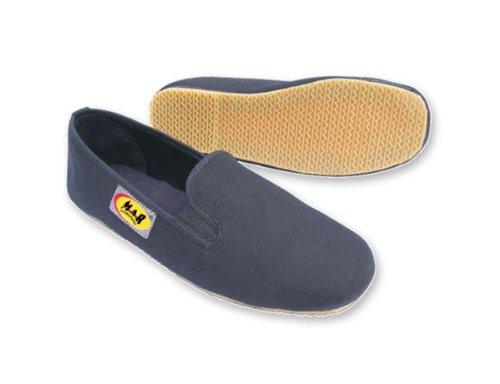 M.A.R International Kung-Fu-Schuhe / Slipper mit Kunststoffsohle, für Kampfsport und Tai Chi, Schwarz, 45