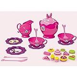#1018 Disney Minnie Geschirrset mit Geschirr, Besteck, Gebäckstücken und Zubehör • Puppengeschirr Puppenservice Tee Geschirr Kinderküche Spielküche Kinder Spielzeug Set