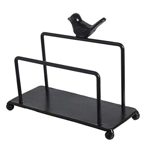 Metall Vogel Serviettenhalter für Küche Zähler Tops w/freistehend Tissue Spender schwarz - Vögel Serviettenhalter