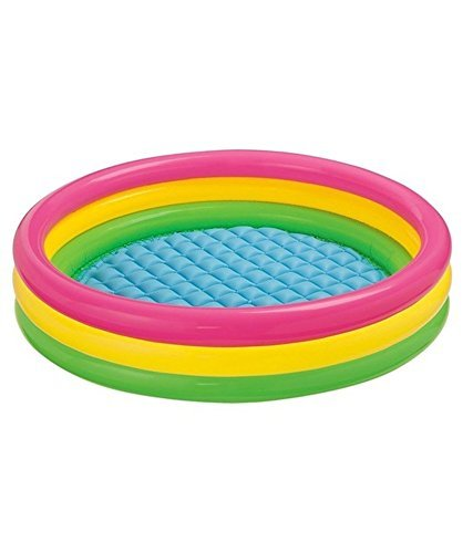Intex Inflatable Water Pool 4 Ft Diameter For Kids For Fun Activities - Multi Color