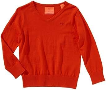 Scotch Shrunk Jungen Pullover 13440660501 basic v-neck pull  Gr. 140  (10), Orange (33 - burning orange )
