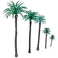 Trifycore 14 PCS 6,6-Zoll-Modell Kokospalmen Landschaft Baummodell für eine Modelleisenbahnzug Architektur 01.50, DIY & Tools
