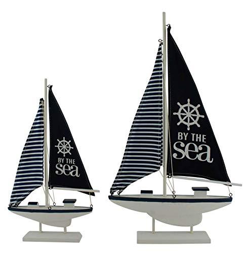 PMP Yacht Marineblau/Weiß gestreift, 19 x 3,5 x 33,5 cm 19 X Bay