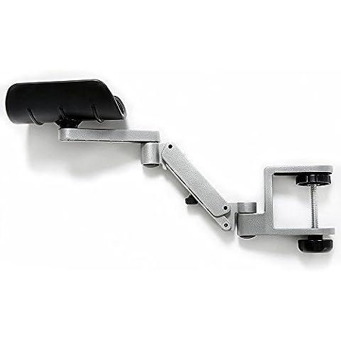 Più nuovo disegno ergonomico articolato Computer Support Laptop braccio   altezza regolabile Braccioli Desk Extender   collegabile in lega di alluminio Braccio di facile utilizzo stand (argento)