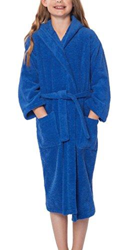 Accappatoio per bambini - Morbido puro Cotone, 430gsm (gr/m2) blu (S)