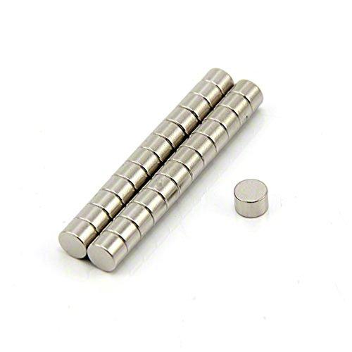Preisvergleich Produktbild 6mm Dia X 5mm Dicken N42 Neodym-Magnet - 1, 24 Kg Ziehen (VPE 25 Stk.)