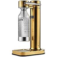 Aarke Carbonator II - Machine à eau pétillante, Acier Inox, Bouteille PET incluse, compatible avec les cartouches de CO2 60L, Brass