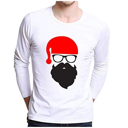 ODRD Ugly Fun-T-Shirts Paar Tops Shirts, Funny Hässliche Lustig Weihnachtsmann mit Brille Christmas Herren O-Neck T Shirt Herren Print Xmas Blouse T-Shirt Men Short Sleeve Kurzarm Top Weihnachtsparty -