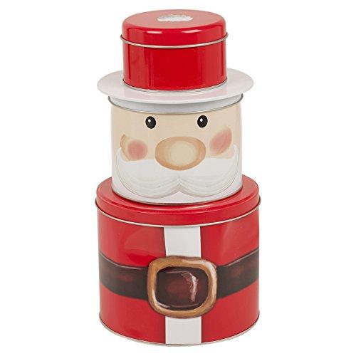sur le thème de Noël Biscuit Cookie Tin Pot en métal Nourriture sèche Thé café