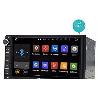 aoauto® joying 17,8 cm Doppel 2 DIN Android 5.1 Lollipop Universal KFZ Radio Quad Core 1024 * 600 HD Auto GPS Navigation Best Head Unit Auto PC