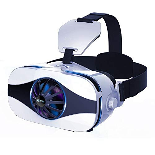 DJGHPWP VR 5F Mini 3D Brille Lüfter Kühlung Virtual Reality Brillenbox Deluxe Edition Smartphones Vr Brille