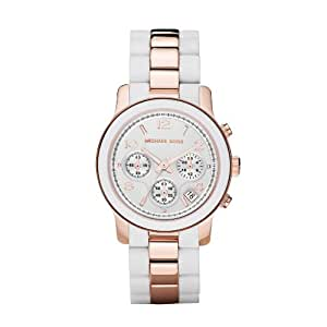 Michaël Kors MK5464 Women's Quartz Watch with Black Dial Analogue Display Stainless Steel White