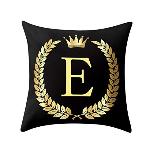 2019 nuovo moda lettera stampa copertura del cuscino nero e oro morbido federa cuscino del divano home decor 45cm × 45cm/ 18 × 18 pollici by wudube