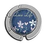 Taschenaufhänger mit Aufschrift Love Life Glasmuster